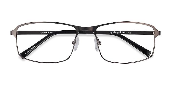 Matte Gunmetal Capacious -  Lightweight Metal Eyeglasses