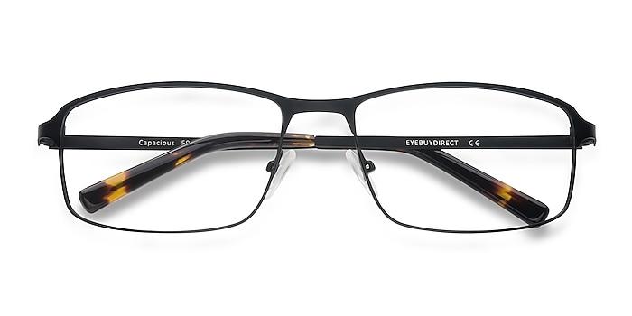 Black Capacious -  Lightweight Metal Eyeglasses