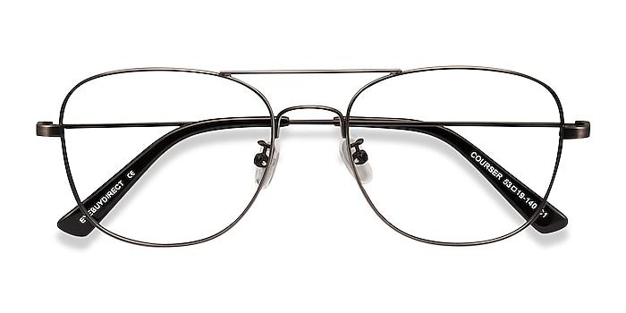 Gunmetal Courser -  Vintage Metal Eyeglasses