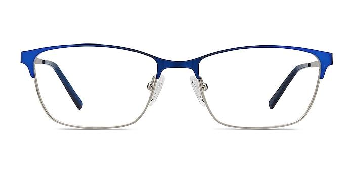 Cascade Blue Metal Eyeglass Frames from EyeBuyDirect