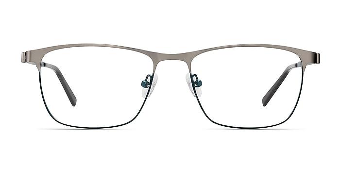 Pinion Gunmetal Metal Eyeglass Frames from EyeBuyDirect