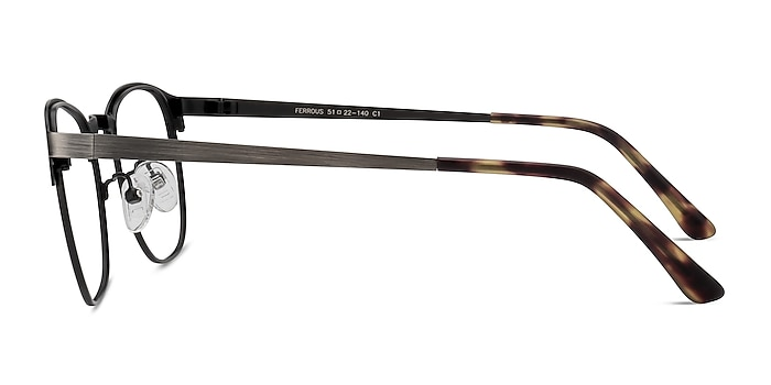 Ferrous Gunmetal Métal Montures de lunettes de vue d'EyeBuyDirect