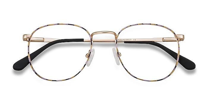 Floral Golden Blossom -  Metal Eyeglasses