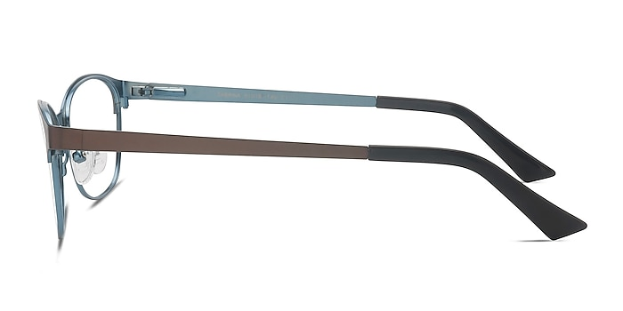 Sabrina Brown Blue Metal Eyeglass Frames from EyeBuyDirect