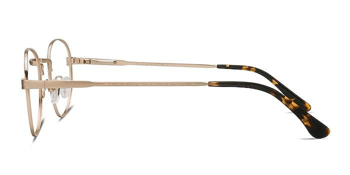 Belleville Golden Metal Eyeglass Frames from EyeBuyDirect