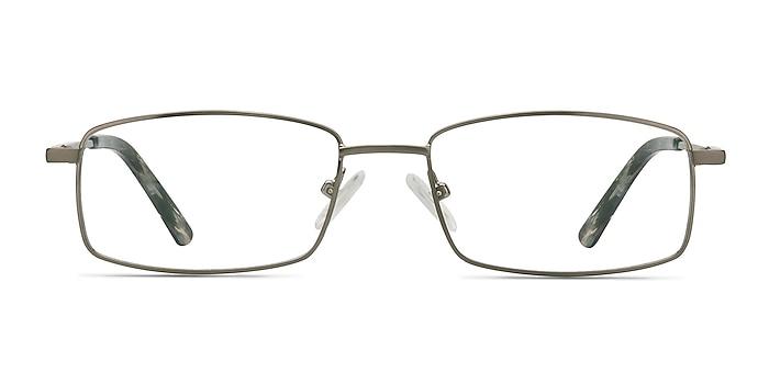 Tab Gunmetal Metal Eyeglass Frames from EyeBuyDirect