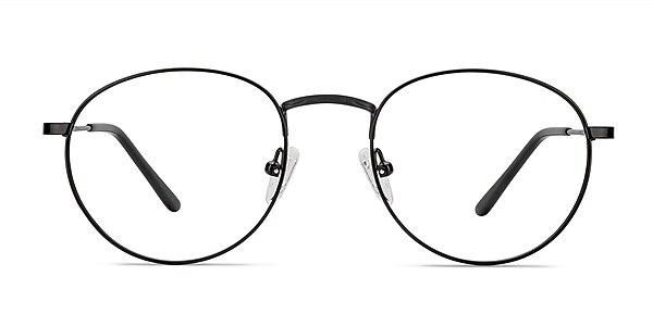 Epilogue Black Metal Eyeglass Frames
