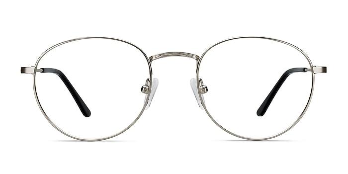 Epilogue Silver Metal Eyeglass Frames from EyeBuyDirect