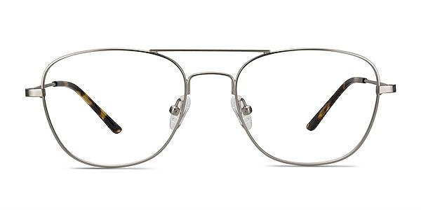 Captain Silver Metal Eyeglass Frames