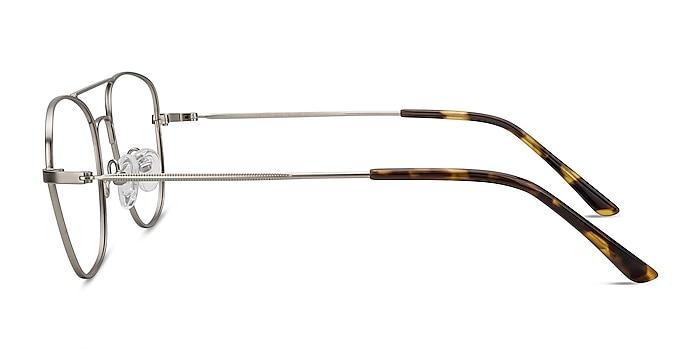 Captain Silver Metal Eyeglass Frames from EyeBuyDirect