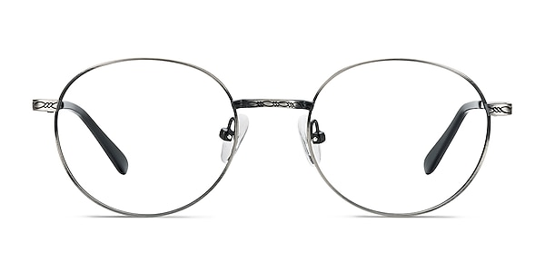 Ledger Silver Metal Eyeglass Frames