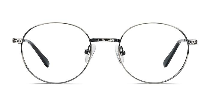 Ledger Silver Metal Eyeglass Frames from EyeBuyDirect