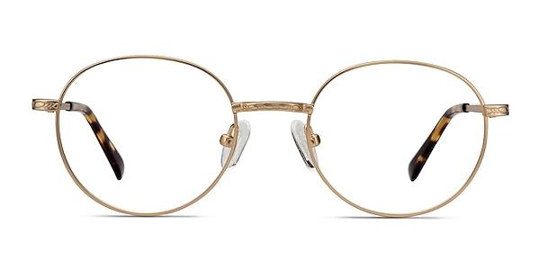 Ledger Golden Metal Eyeglass Frames