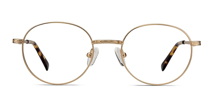 Ledger Golden Metal Eyeglass Frames from EyeBuyDirect