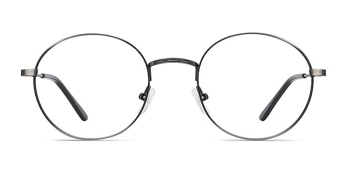 Motif Gunmetal Métal Montures de lunettes de vue d'EyeBuyDirect