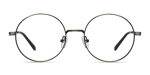 Inscription Bronze Metal Eyeglass Frames