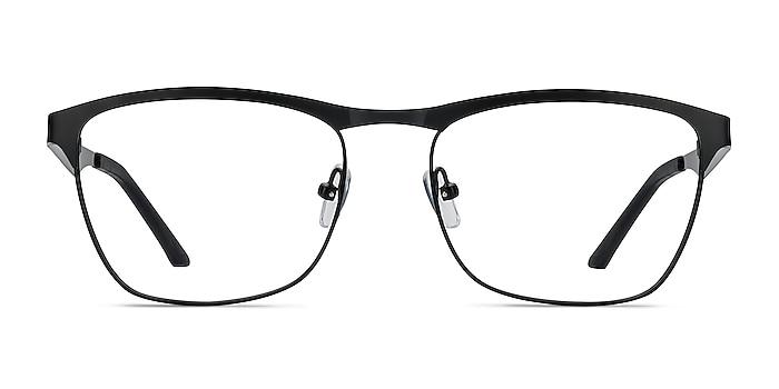 Foundry Black Metal Eyeglass Frames from EyeBuyDirect