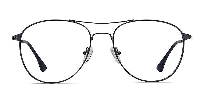 Westbound Dark Navy Metal Eyeglass Frames from EyeBuyDirect