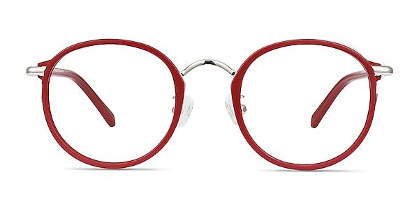 Carnival Matte Red Plastic-metal Eyeglass Frames