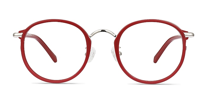 Carnival Matte Red Plastic-metal Eyeglass Frames from EyeBuyDirect