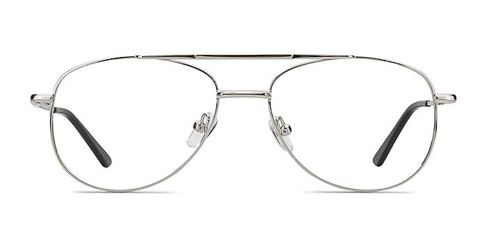 Tasker Silver Metal Eyeglass Frames from EyeBuyDirect