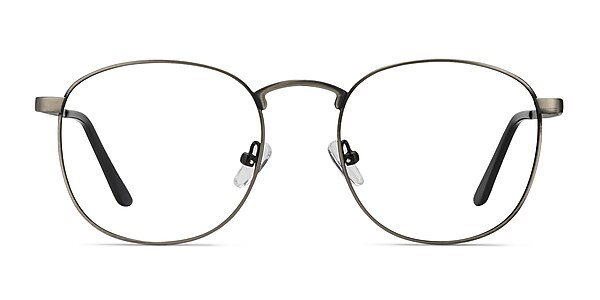 St Michel Gunmetal Metal Eyeglass Frames