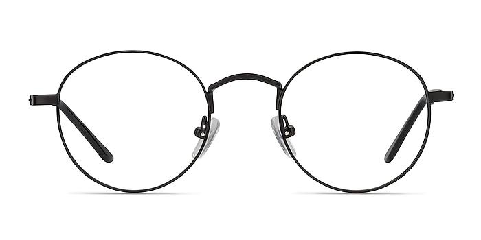 Cupertino Black Metal Eyeglass Frames from EyeBuyDirect