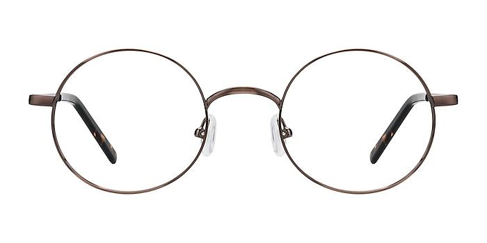 Socrates Brown Tortoise Metal Eyeglass Frames from EyeBuyDirect