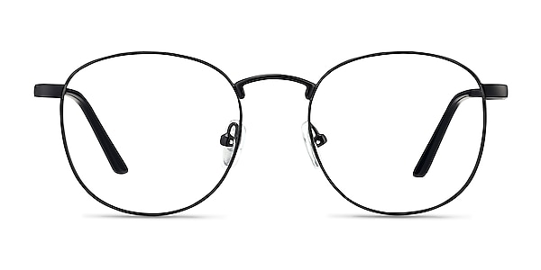 St Michel Black  Metal Eyeglass Frames