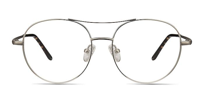 Cassini Silver Metal Eyeglass Frames from EyeBuyDirect