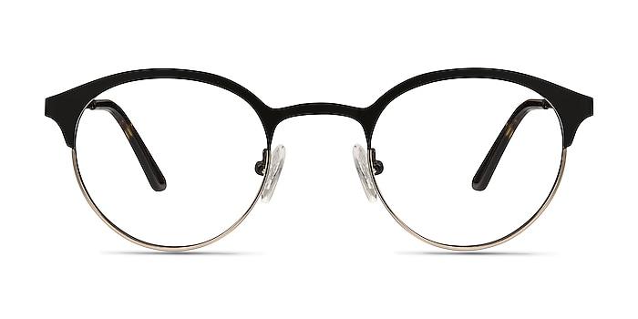 Fixate Black Golden Metal Eyeglass Frames from EyeBuyDirect