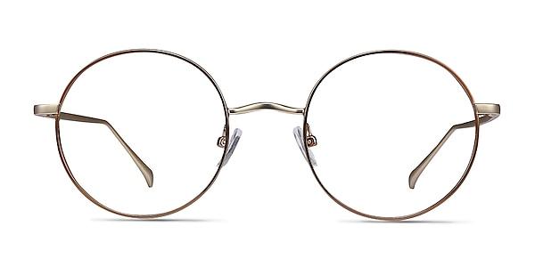 Synapse Brown Metal Eyeglass Frames