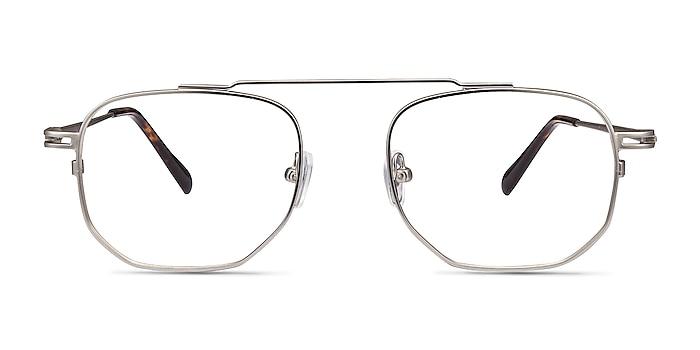 Cordon Matte Silver Metal Eyeglass Frames from EyeBuyDirect