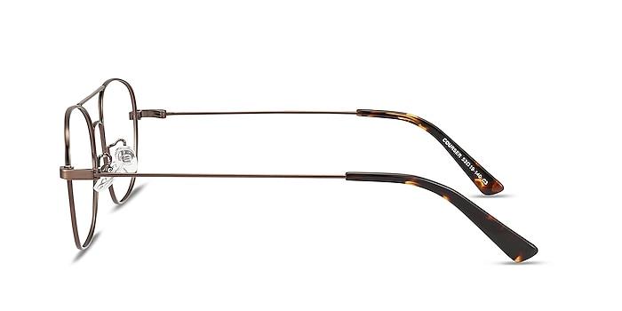 Courser Café Métal Montures de lunettes de vue d'EyeBuyDirect