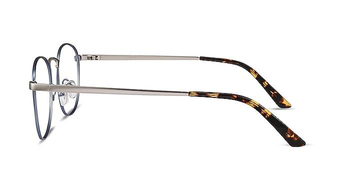 St Michel Frost Blue Metal Eyeglass Frames from EyeBuyDirect
