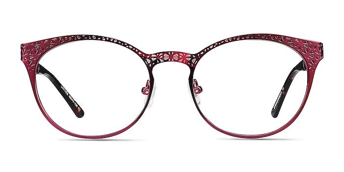 Lattice Red Purple Métal Montures de lunettes de vue d'EyeBuyDirect