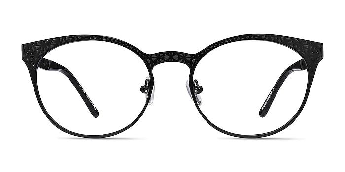 Lattice Black Metal Eyeglass Frames from EyeBuyDirect