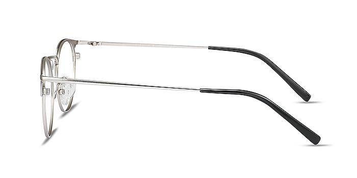 Veronica Black Silver Metal Eyeglass Frames from EyeBuyDirect