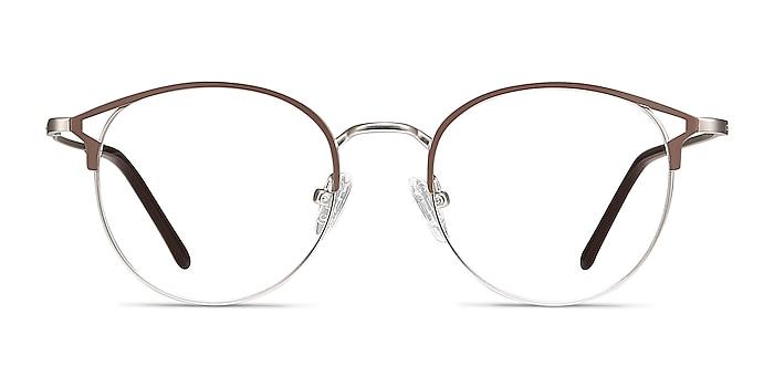 Jive Marron Métal Montures de lunettes de vue d'EyeBuyDirect