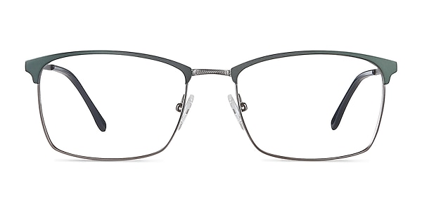 Signal Green Metal Eyeglass Frames