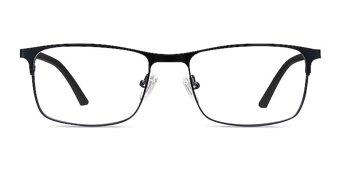 Wit Navy Metal Eyeglass Frames from EyeBuyDirect