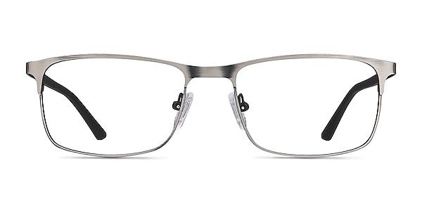 Wit Gunmetal Metal Eyeglass Frames