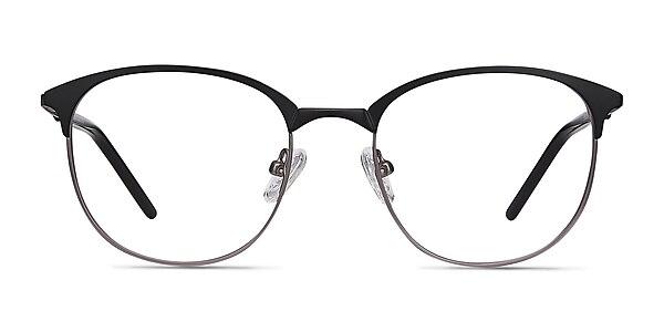 Perceive Black Gunmetal Metal Eyeglass Frames