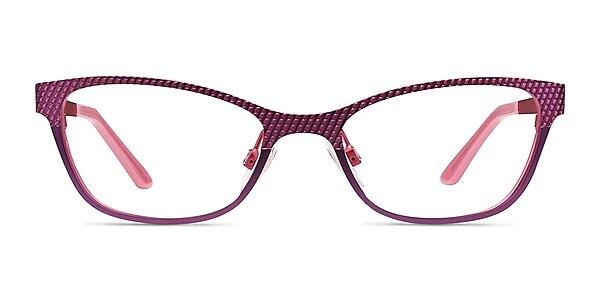 Mardi Gras Pink Metal Eyeglass Frames