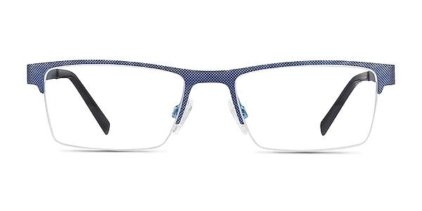 Vine Bleu Métal Montures de lunettes de vue