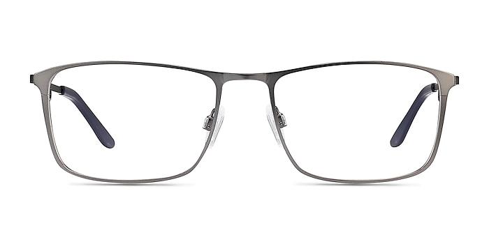 Daytona Gunmetal Metal Eyeglass Frames from EyeBuyDirect