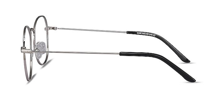 Cori Silver Metal Eyeglass Frames from EyeBuyDirect