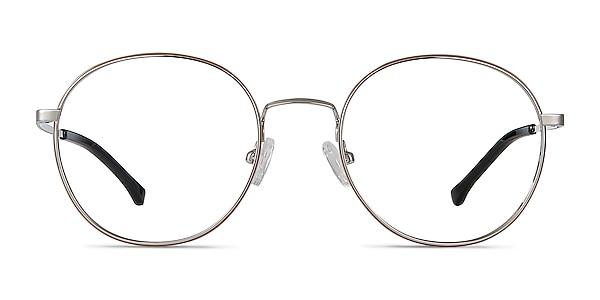 Progress Brown Silver Metal Eyeglass Frames