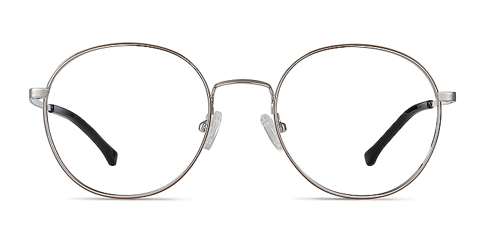 Progress Brown Silver Metal Eyeglass Frames from EyeBuyDirect