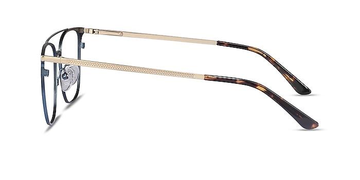 Contact Blue Metal Eyeglass Frames from EyeBuyDirect